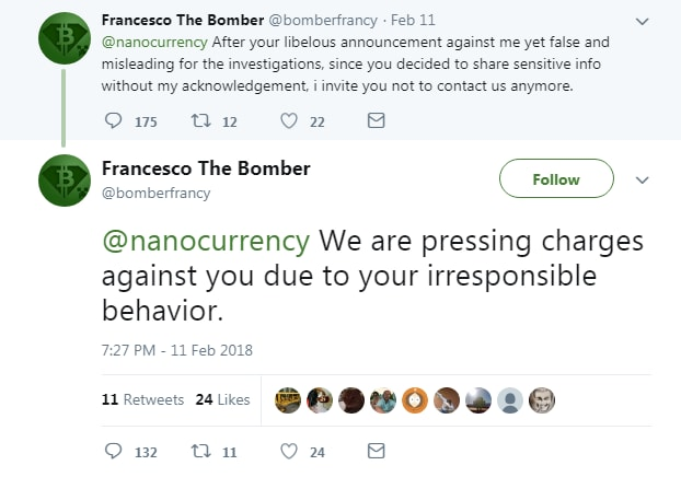 francesco the bomber firano nano bitgrail - 1