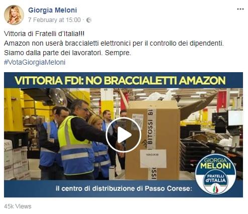 giorgia meloni amazon braccialetto - 1