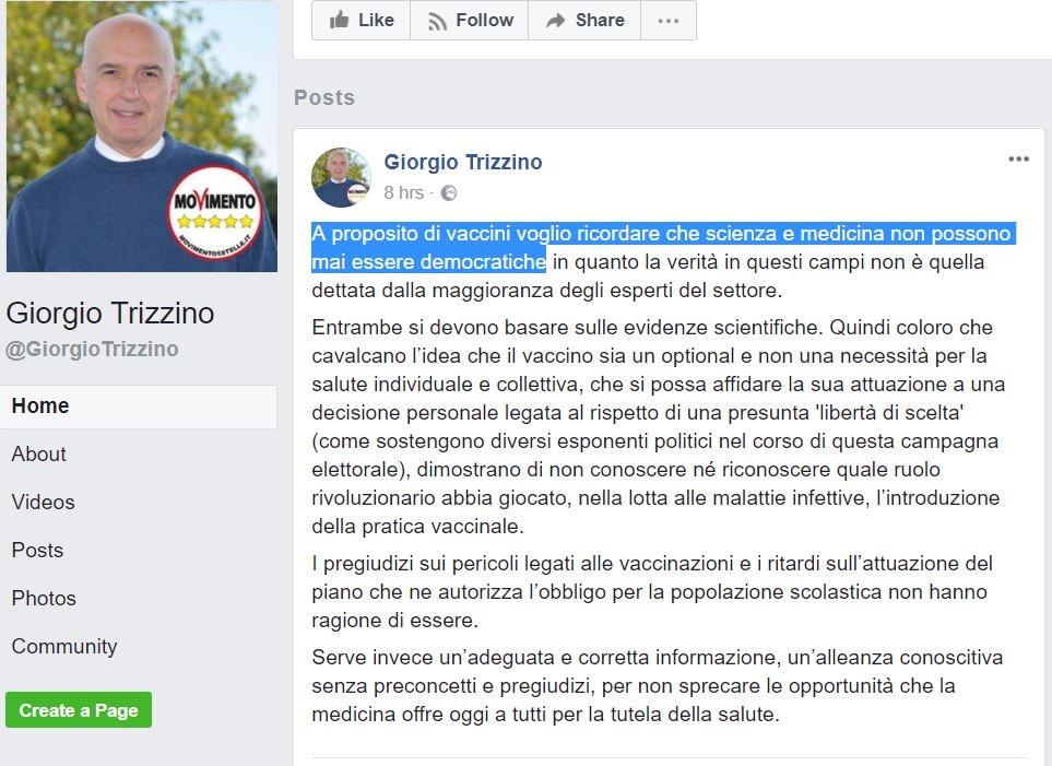 giorgio trizzino m5s vaccini