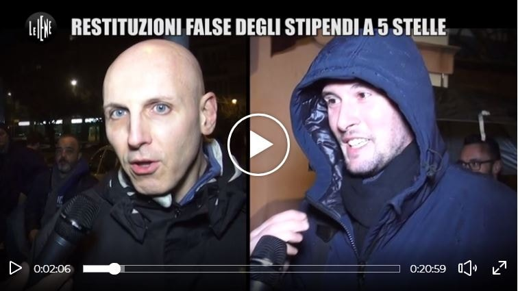 restituzioni false stipendi movimento 5 stelle