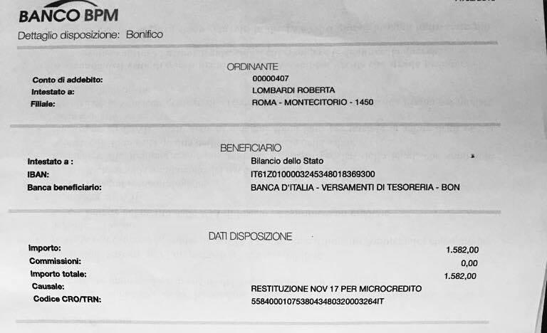 roberta lombardi rimborso cro data novembre 2017 - 2
