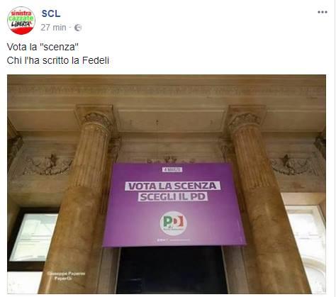 scenza manifesto pd