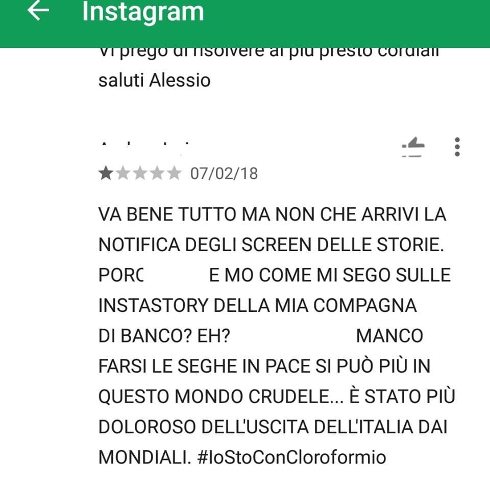 storie instagram notifica screenshot