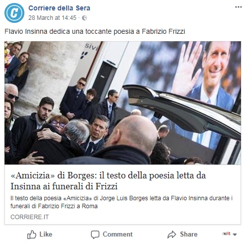 borges insinna amicizia funerali frizzi renzi - 3