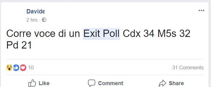 exit poll falsi