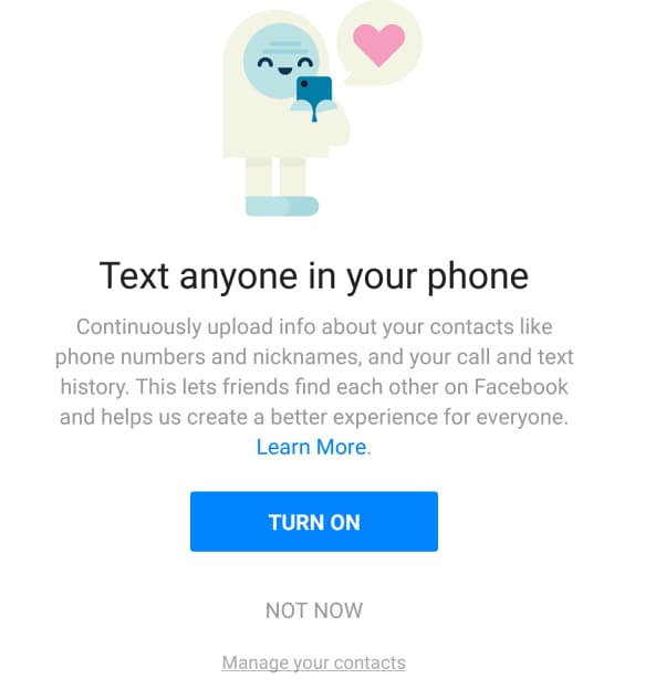 facebook sms chiamate registra dylan mckay - 10