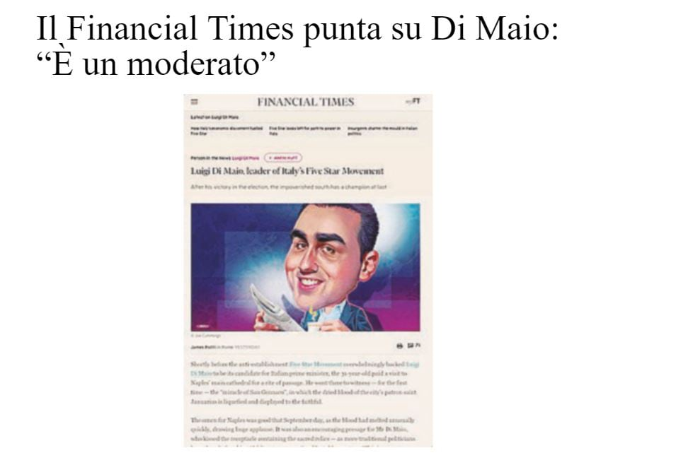 financial times di maio m5s