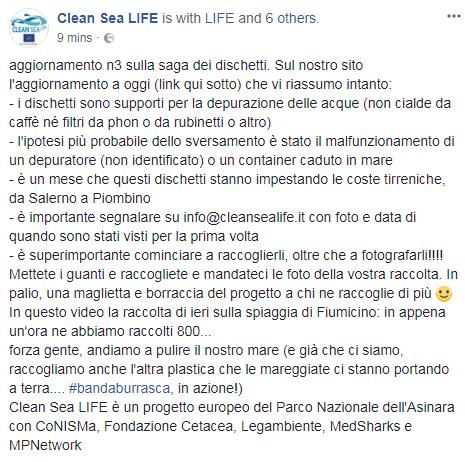 mappa dischetti spiagge clean sea life - 2