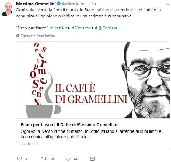 massimo gramellini fisco agenzia entrate italiani povertà ristorante - 3