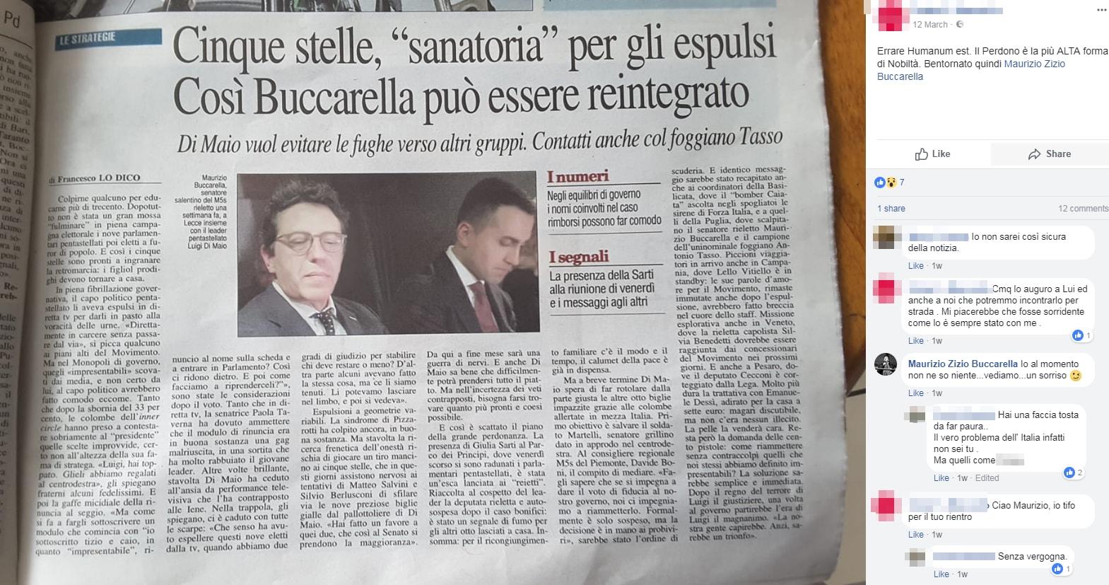 maurizio buccarella m5s elezione perdono di maio - 1