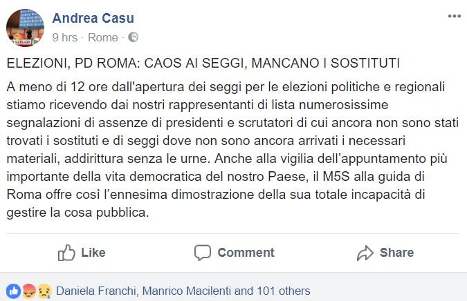 presidenti scrutatori seggi roma