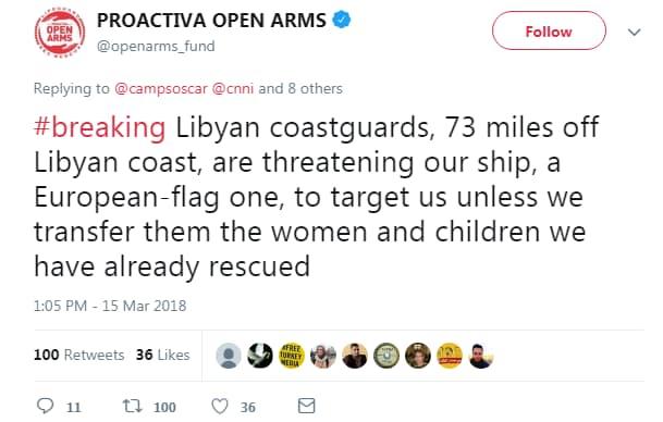 proactiva open arms emergenza mediterrano motovedetta libica - 4