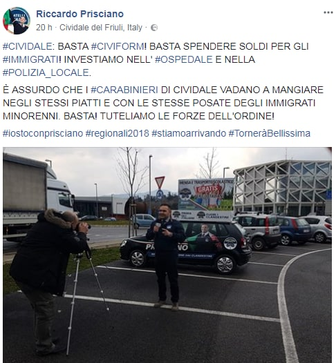 riccardo prisciano carabinieri piatti bicchieri immigrati - 1