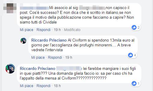riccardo prisciano fratelli d'italia carabinieri piatti bicchieri immigrati - 3