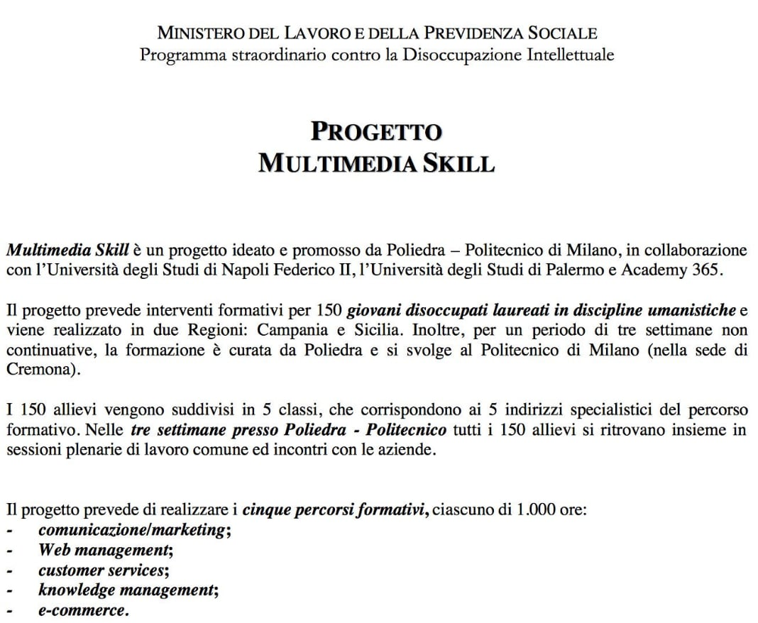 roberto fico master knowledge management politecnico milano - 1