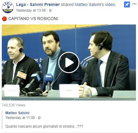 salvini giornalisti strasburgo stampa - 4