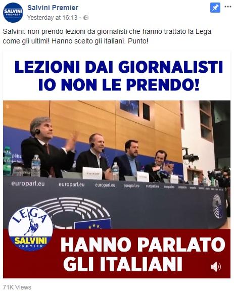 salvini giornalisti strasburgo stampa - 5