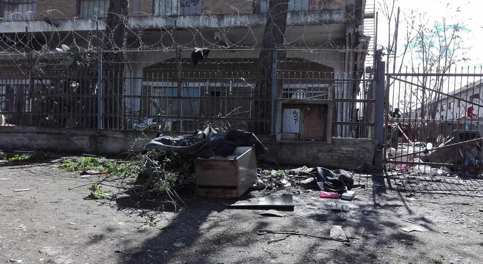 sgombero via di vannina migranti roma - 3
