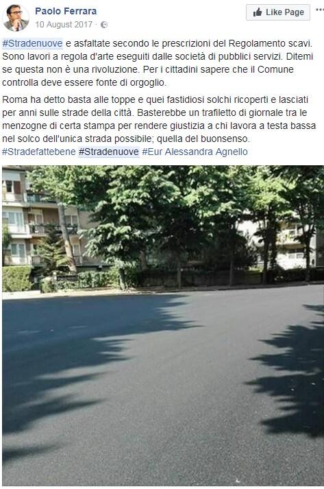 stradenuove paolo ferrara buche roma m5s - 1