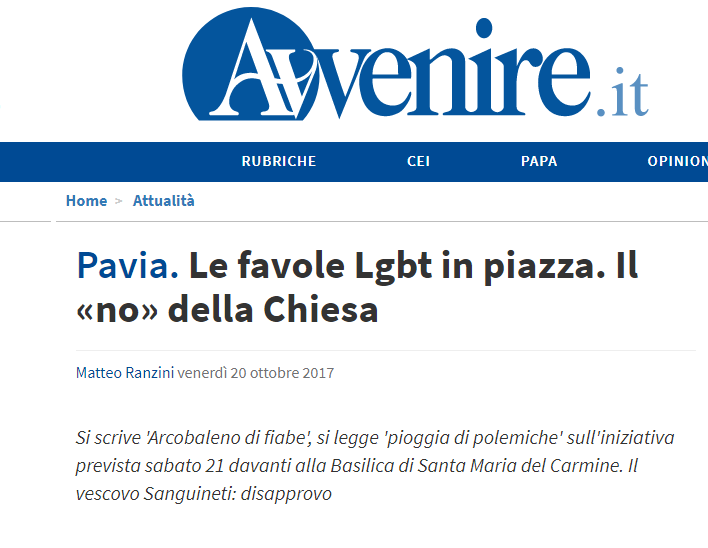 vescovo pavia omosessuali sanguineti - 2
