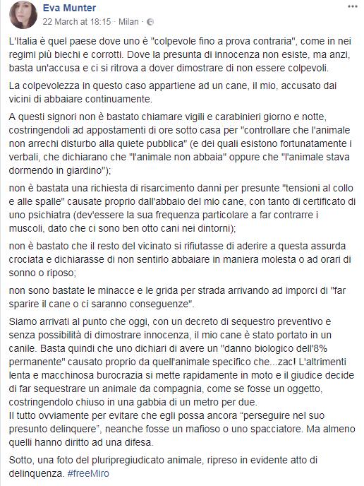 eva munter miro petizione change org cane canile - 1