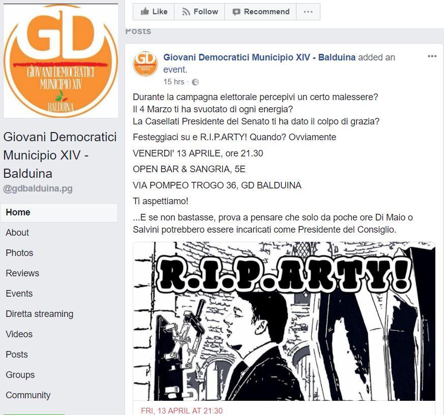 giovani democratici morte renzi
