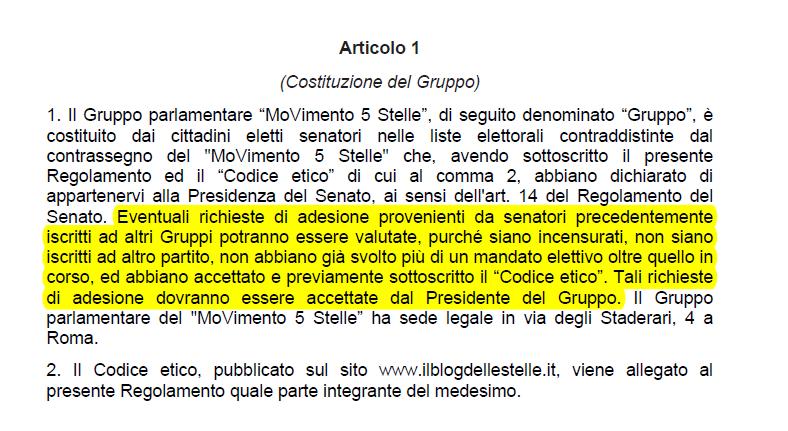 luigi di maio parlamentari forza italia m5s gruppo statuto - 1