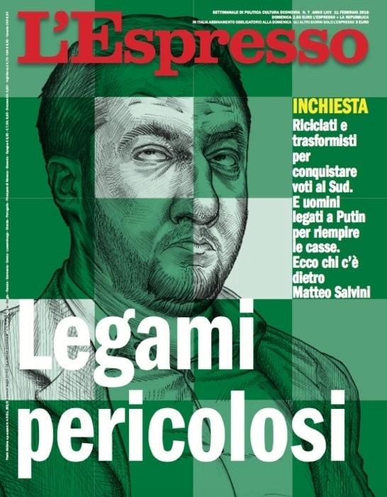 L'Espresso e la copertina su Salvini al Sud