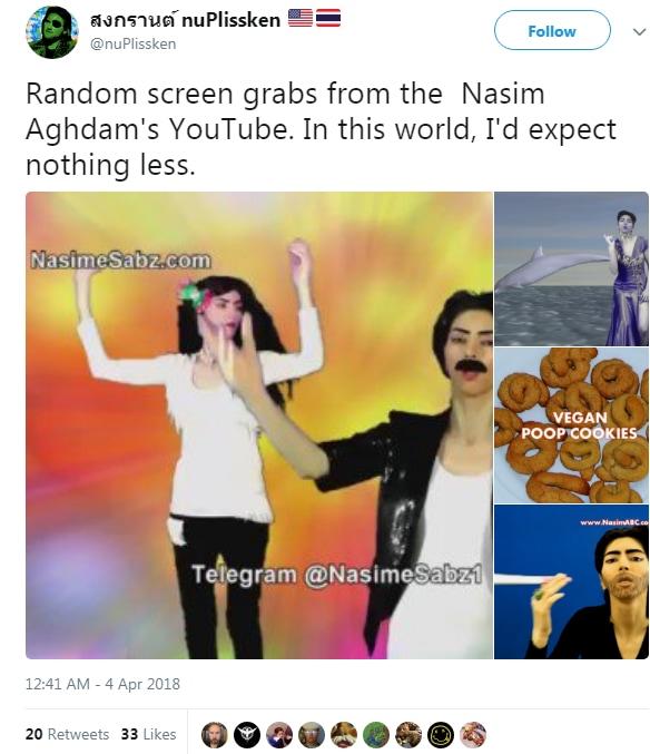 nasime sabz Nasim Aghdam youtube attentato - 3