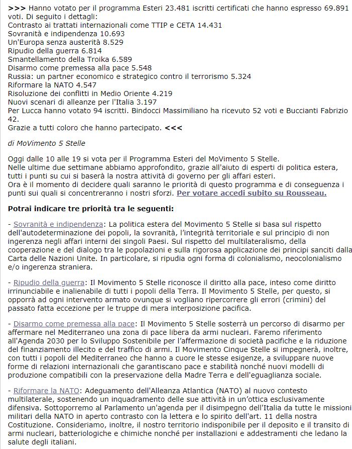 programma m5s cambiato voto blog rousseau - 1