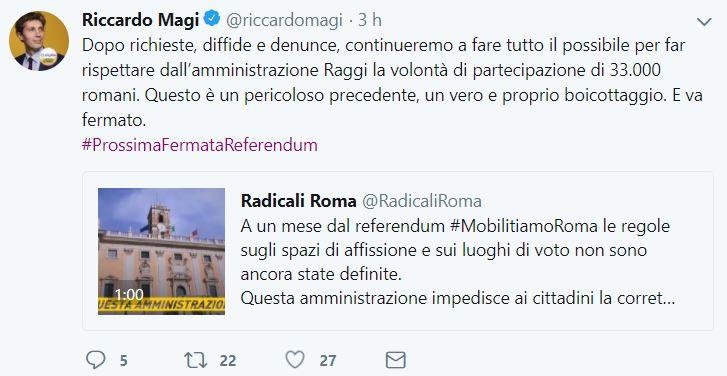 riccardo magi referendum atac