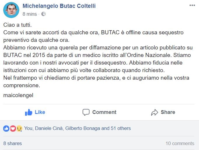 sequestro butac michelangelo coltelli