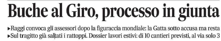 buche giro d'italia m5s roma tappa - 4