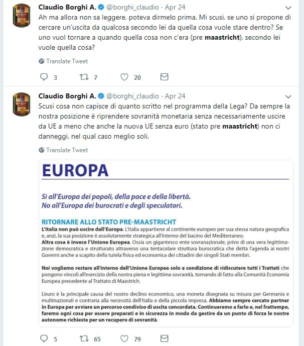 claudio borghi savona no euro - 2