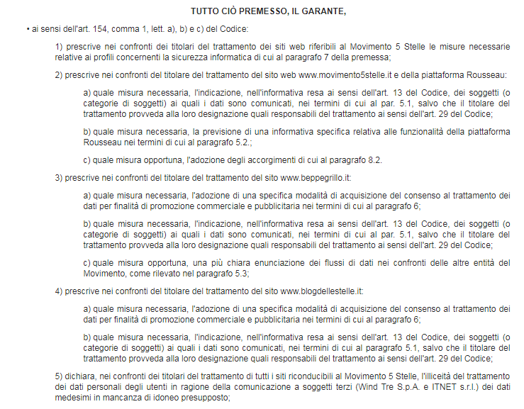 garante privacy rousseau casaleggio dati utenti password - 1