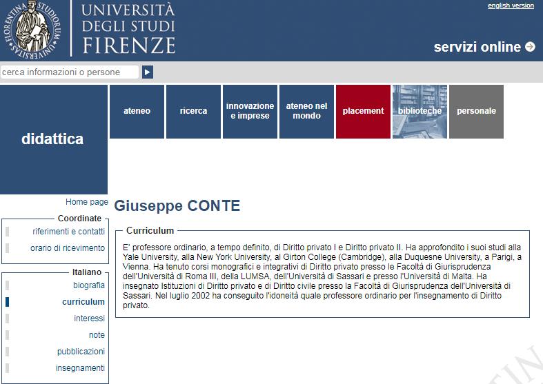 giuseppe conte curriculum new york university - 3