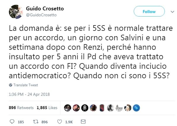 guido crosetto governo salvini di maio m5s lega - 1