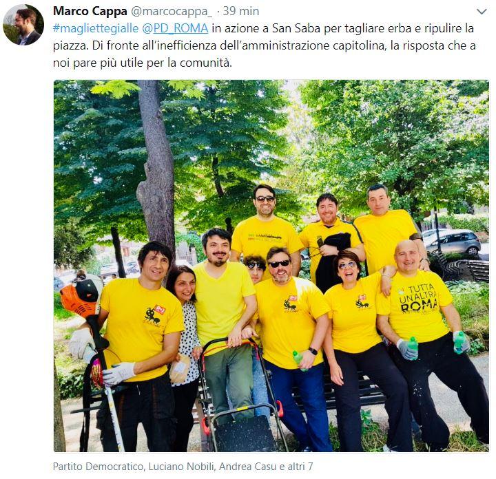 magliette gialle pd roma 1