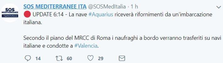 aquarius spagna navi italiane