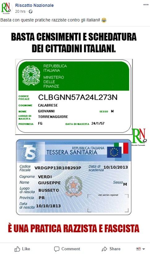 censimento rom schedatura etnica salvini - 1