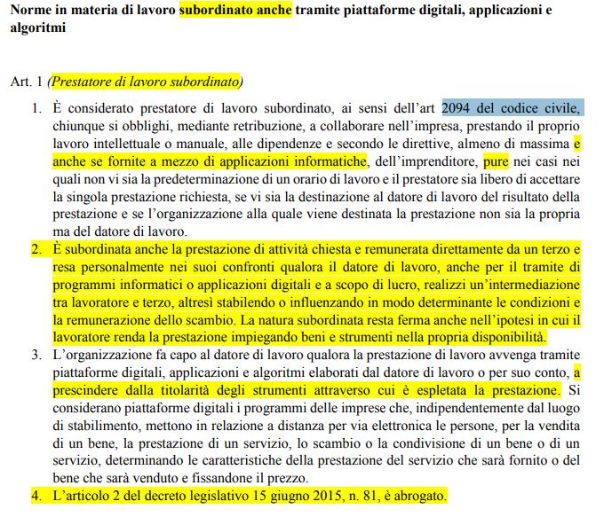 di maio decreto dignità riders gig economy contratto subordinato - 2
