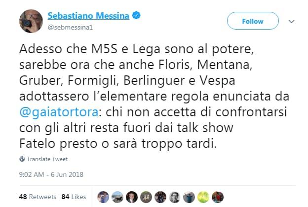 gaia tortora omnibus talk interviste lega m5s - 4