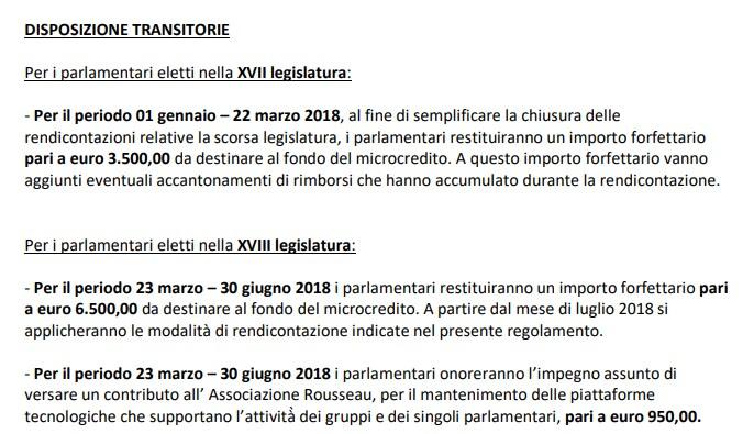 rendiconto m5s restituzioni regolamento 2018 rousseau - 4