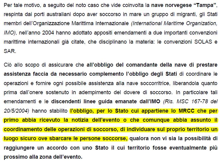 responsabilità penali internazionali italia salvini porti chiusi - 2