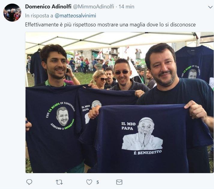 salvini macron papa 1