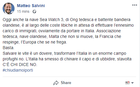 toninelli m5s salvini lega migranti aquarius sos mediteranee - 8