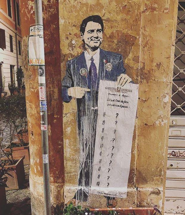 tvboy street art giuseppe conte