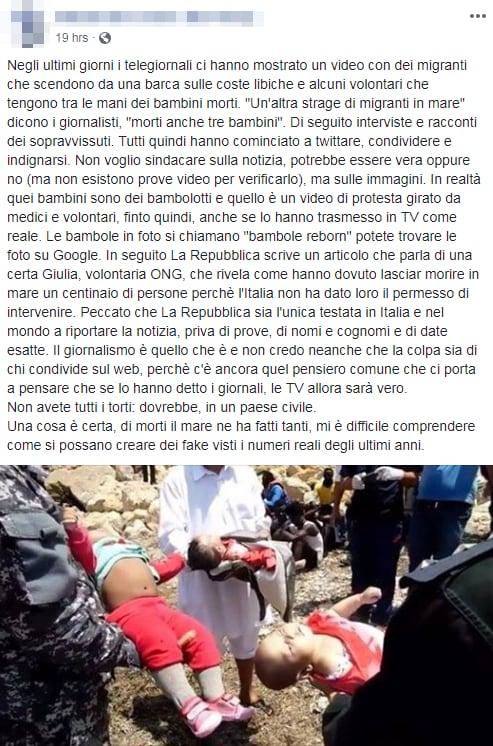 bambini morti libia foto fake bambolotti reborn - 1