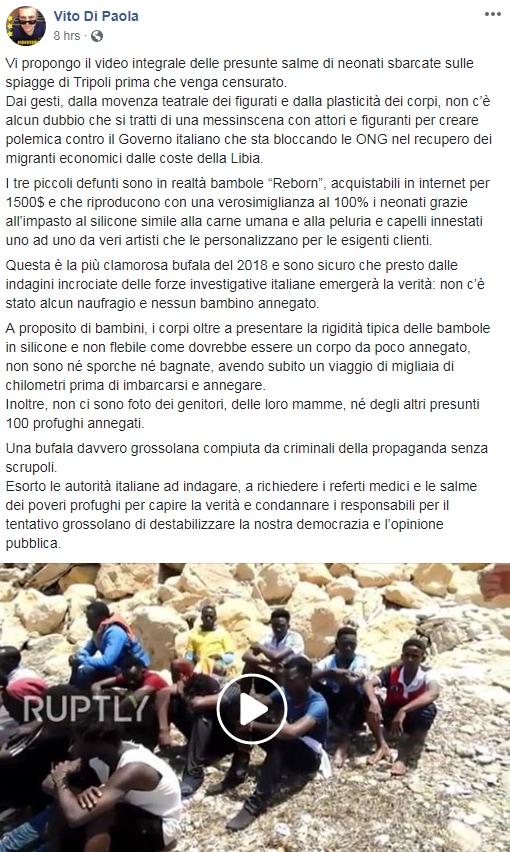 bambini morti libia foto fake bambolotti reborn - 4