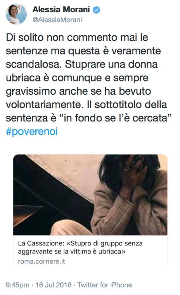 cassazione stupro aggravante vittima ubriaca - 4